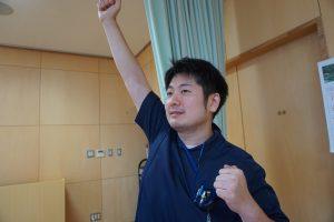 石田理学療法士の軽妙なトークは人気です!