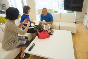 第1回講師でサポートMCの田中寿美子さんと。お二人とも素晴らしい指導者!
